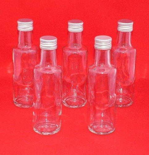 12 petites bouteilles en verre de 100 ml avec bouchon à vis du SLK GmbH