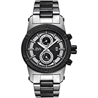 JBW Luxury Men's Strider 12 Diamonds Stainless Steel Watch