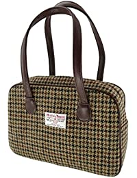 6545fd69c4f Ladies 100% Wool Brown Square Check Harris Tweed Square Handbag LB1005  Colour 27 - Made in Scotland…