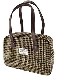 3ca58adbb450 Ladies 100% Wool Brown Square Check Harris Tweed Square Handbag LB1005  Colour 27 - Made in Scotland…