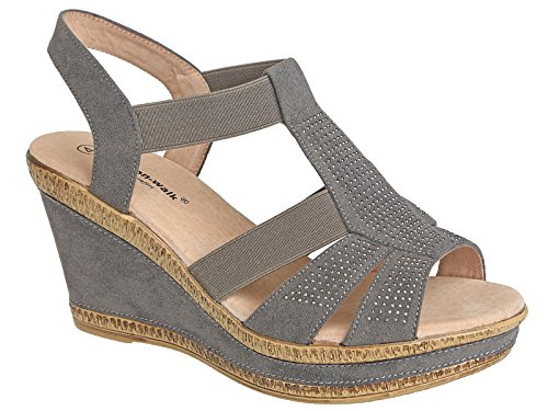 Cushion Walk - Zeppe da ragazza' donna A85 Grey