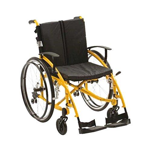 Drive DeVilbiss Healthcare Enigma Spirit Rollstuhl, leicht, verstellbare Armlehnen und stilvolles Gestell, Blau - Rollstuhl Armlehne