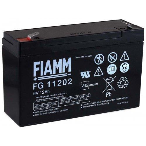 FIAMM Batteria ricaricabile da cambio per auto per bambini auto per bambini quad per bambini 6V 12Ah (sostituisce anche 10Ah)