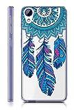 Sunrive HTC Desire 650/628 / 626 / 626G Hülle Silikon, Transparent Handyhülle Schutzhülle Etui Case Backcover für HTC Desire 650/628 / 626 / 626G(TPU Traumfänger)+Gratis Universal Eingabestift