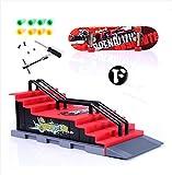 Hy–Mini Skatepark moda para diapasón de rampa de juguete Patrón F (con herramientas y Skateboards)