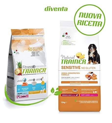 Trainer Sensitive No Gluten MM PuppyJunior con Salmone e Cereali Integrali - 12000 gr