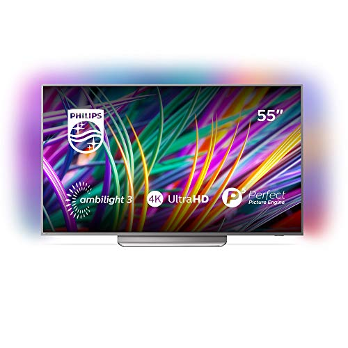 Philips 55PUS8303/12 55-Inch 4K Ultra HD Android Smart TV with Ambilight 3-sided, HDR Premium, P5 perfect picture engine (2018 model)