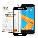 Orzly® Pro-Fit 2.5D - Film Protection en Verre Trempé pour HTC 10 (2016 Modèle) - Ultra Résistant - Film Protecteur Ecran Fuselage Spécial - Couvre 100% de la dalle - 100% Transparent (Version Noir) - Indice Dureté jusqu'à 9H