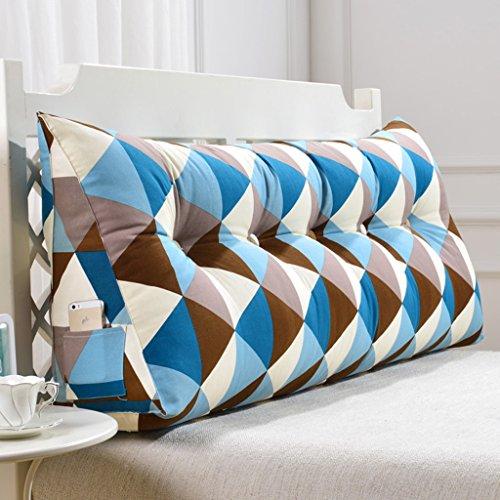 Große dreidimensionale Dreieck Waschbar Bett Kopfteil Kissen Gepolsterte Sofas Große Rückenlehne ( Size : 200cm*50cm*20cm )