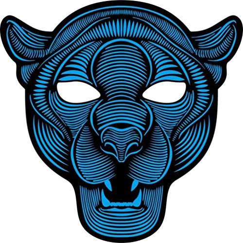 LED Leuchtende Maske,SuperSU Partei Version Reaktive Maske Leuchten -