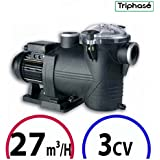 Bomba piscina–Discovery 3CV Tri 27m³/h–Astralpool