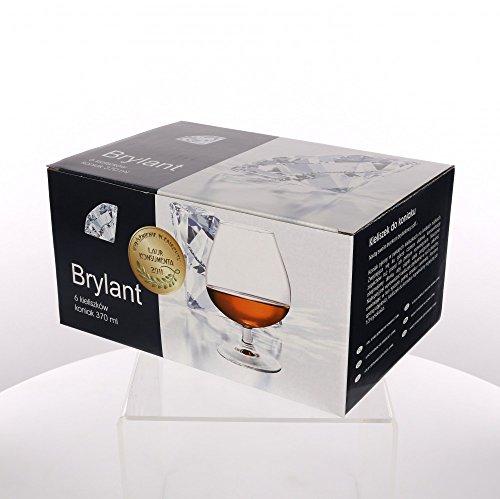Weinbrandgläser Cognacschwenker Cognacgläser Krosno Brillant 6 Stück 370 ml