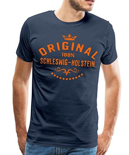 Spreadshirt Original Schleswig-Holstein RAHMENLOS® Männer Premium T-Shirt, M, Navy