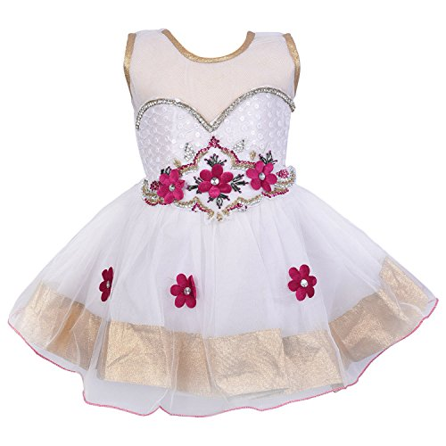 Wish Karo Party wear Baby Girls Frock Dress DN10pinknw 3-4 Yrs