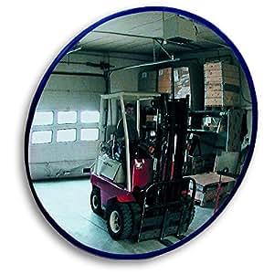 EUROKRAFT Rundspiegel mit Teleskop-Wandarm - mit Magnethalterung - Spiegel-Ø 400 mm - Industriespiegel Rundspiegel Wandspiegel Weitwinkelspiegel