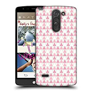 Snoogg Small Triangles Designer Protective Phone Back Case Cover For LG G3 Stylus