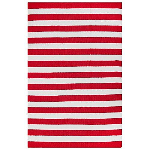 FAB HAB - Intérieur/Extérieur Pet Tapis - Nantucket Rouge & Blanc (90 cm x 150 cm)
