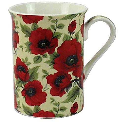 Leonardo, tasse en porcelaine fine avec motif coquelicot rouge, LP92555