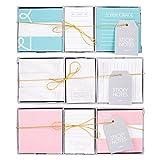 Invero®–3x confezione di adesivi memo Notepad notes box set con varie dimensioni e una striscia adesiva non permanente ideale per tutte le abitazioni, uffici, feste e stagioni più
