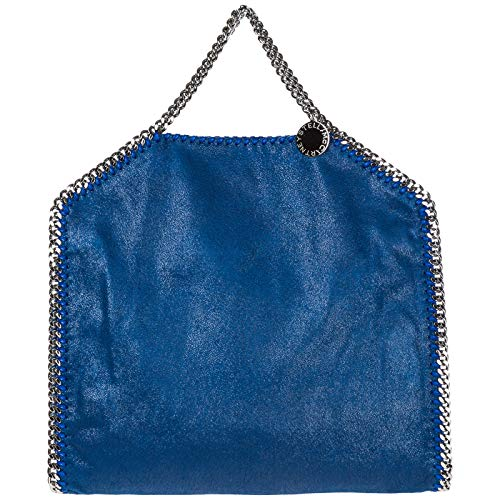 Stella McCartney borsa a mano falabella fold over donna blu
