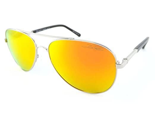 polarized mirrored aviator sunglasses  Bloc Polarized Dune 2 Mirrored Aviator Sunglasses Silver Red ...