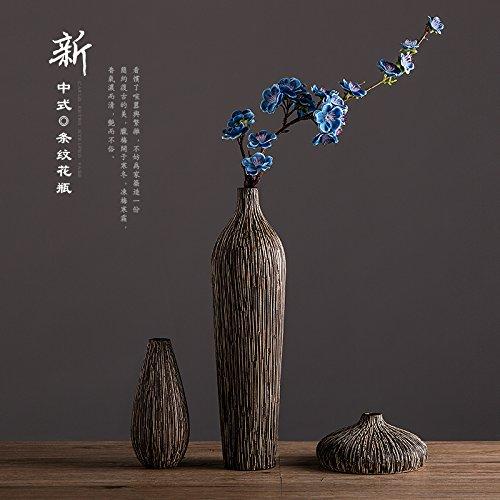 Jarrón de cerámica Jarrón Florero Simulación Zen Retro regalo Housewarming decoración floral...