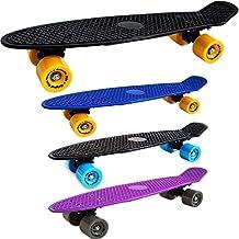 Monopatín RETRO Amortiguador PU Skate Tabla Completa Minimonopatín Cobertura Completa