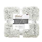 CelinaTex Shetland Bettwäsche 200x220 Creme grau Polar-Fleece Bettbezug Flokati Optik Garnitur Reißverschluss 5001508
