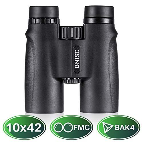 BNISE Binocolo, HD 10X42 Obiettivo ad ampio campo BAK4 Prisma Lente Binocoli, Impermeabile e Antipolvere, Antinebbia, Adatti ai concerti, Osservazione Degli uccelli, Sport all'aria Aperta