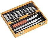 EXTOL 91350 CRAFT-Set di coltelli da intaglio legno, 14 pezzi