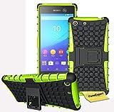 Sony Xperia M5 Handy Tasche, FoneExpert® Hülle Abdeckung Cover schutzhülle Tough Strong Rugged Shock Proof Heavy Duty Case für Sony Xperia M5 + Displayschutzfolie