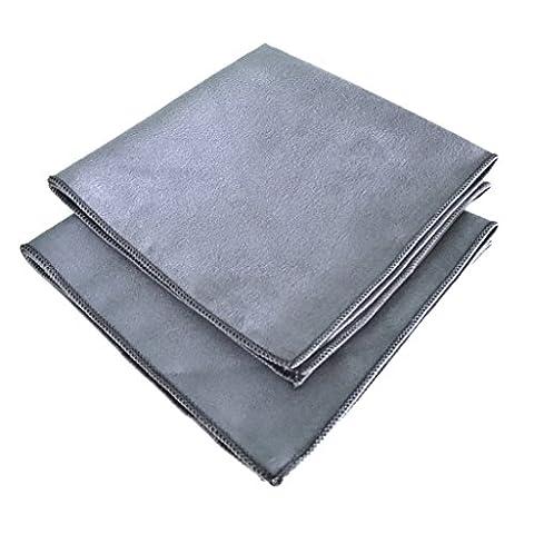 Blum - 2x Display-Reinigungstuch 30x30 cm - grau - für die perfekte Reinigung von Bildschirm | Brille | Computer | Display | iMac | Kamera Objektiv | Laptop | Monitor | Notebook | Smartphone | Sonnenbrille | Spielkonsole | Tablet | TV | VR Brille und mehr.