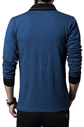 Seven Rocks Mens's Solid Regular Fit T-Shirt (M-UN-NM_Navy Melange_Medium)