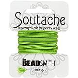 Beadsmith Soutache Cordón de poliéster, 3metros, color lima