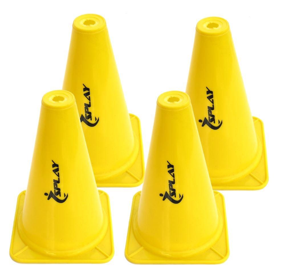 Entrenamiento tráfico cono–22,86cm (amarillo) X 4