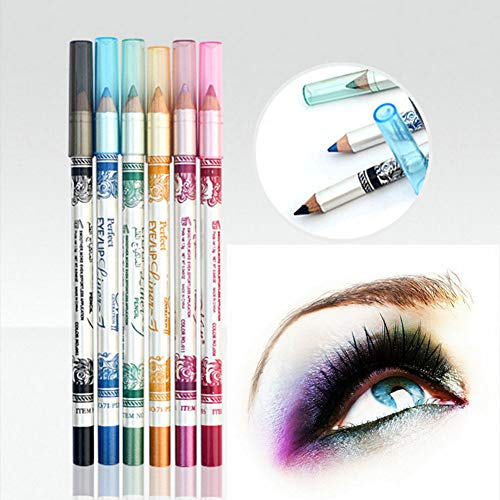 CINEEN 12 Color Professional Glitter Plastic rod Lip Eyebrow Eyeliner Pencil Pen Cosmetic Makeup Besuty Set Kit...