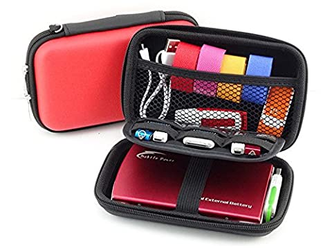 Externe Festplattentasche Iglatt® stoßfeste Festplatten Case für 2,5 Zoll SSD HDD Festplatten Gehäuse Universale Festplatte Hülle Aufbewahrungstasche Schutzbox für USB-Sticks und Speicherkarten
