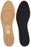 Vegetable Tanned Leather Insole Has Effective Active Charcoal Odor Protection, Tan, Size M10