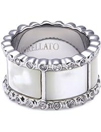 Morellato syc07012 - Anillo de acero inoxidable con perla, talla 12 (16,56 mm)