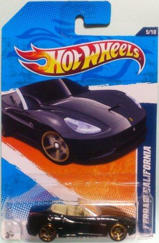 Hot Wheels Ferrari California Black Convertible Faster Than Ever 5/10 145/244 die-cast