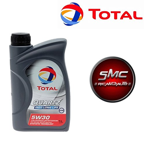 SMC Olio Motore Total Quartz INEO Long Life 5W30 Confezione 1 LITRO