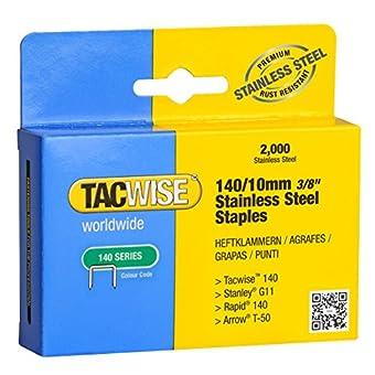 Tacwise 1217 Boîte de 2000 Agrafes en Acier Inoxydable 10 mm Type 140