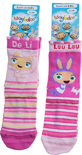 2 Pairs Socks Waybuloo Girls \ Boys Nok Tok Yo Jo Jo Lau Lau and De Li