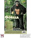 Widmann 4519K - Erwachsenenkostüm Gorilla, Kostüm mit Brustblatt, Hände, Füߟe und Maske -