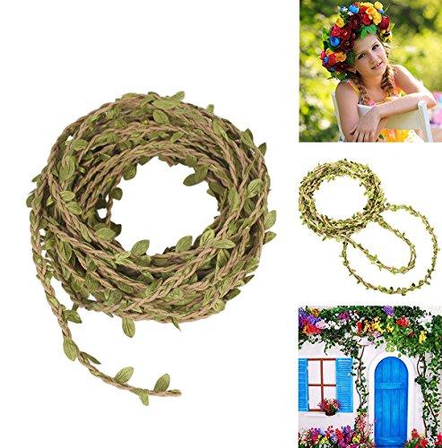 Amkun 66ft Kunstpflanze Vine Fake Laub Blatt Seide Ivy Garland Rustikal Jungle Vines Home Hochzeit Wand Décor Party Dekorationen grün