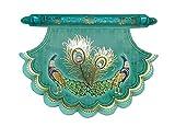 KRIWIN® Pack of 10 Designer Envelopes (Turquoise Color)(Fan/Pankha Style)