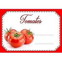 Mon Bio Jardin Juego de 30etiquetas autoadhesivas tomates para mermelada, compota, conserves casa