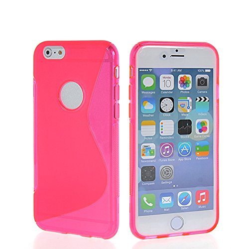 MOONCASE TPU Silicone Housse Coque Etui Gel Case Cover Pour Apple iPhone 6 Plus Gris HotRose