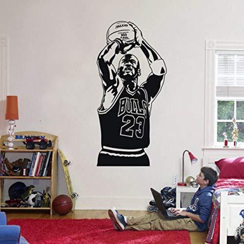 hetingyue Berühmte Basketballspieler Sport Star Vinyl wandaufkleber entfernen Schlafzimmer Dekoration Aufkleber Kunst Poster 63x126 cm