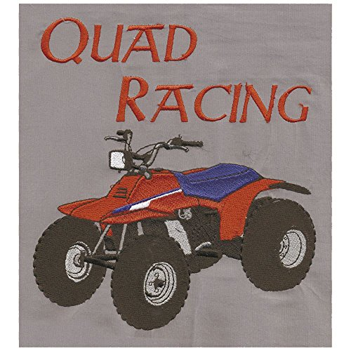 """""""Quad Racing"""" grande sulla schiena logo applicazione a forma di penna con logo - taglia circa 25-30cm easybiz (08089) Biker canionm"""